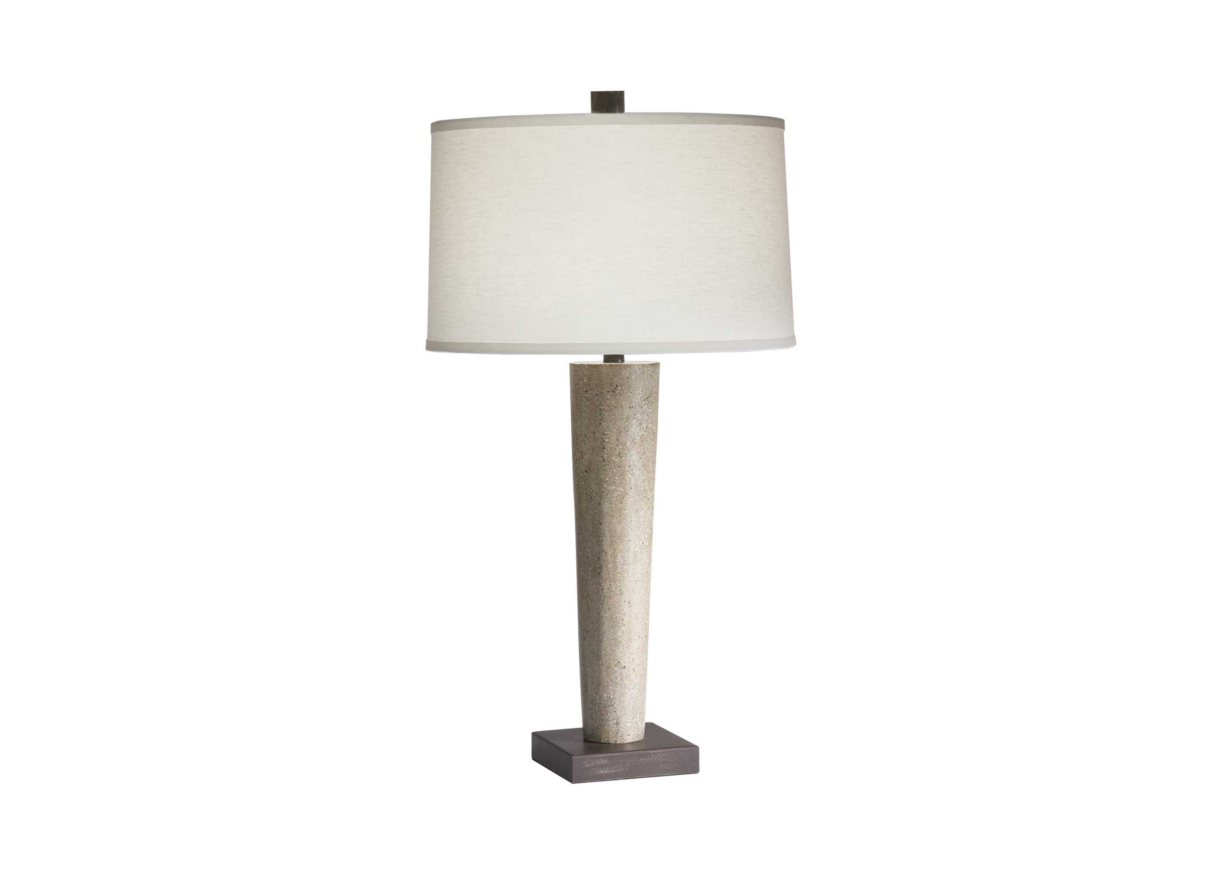 Mila concrete table lamp table lamps sitegenesis 10112 images mila concrete table lamp largegray geotapseo Choice Image