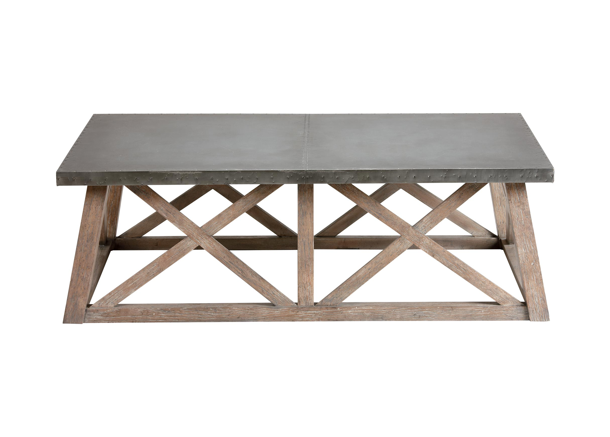 Bruckner Metal Top Coffee Table Ethan Allen new site