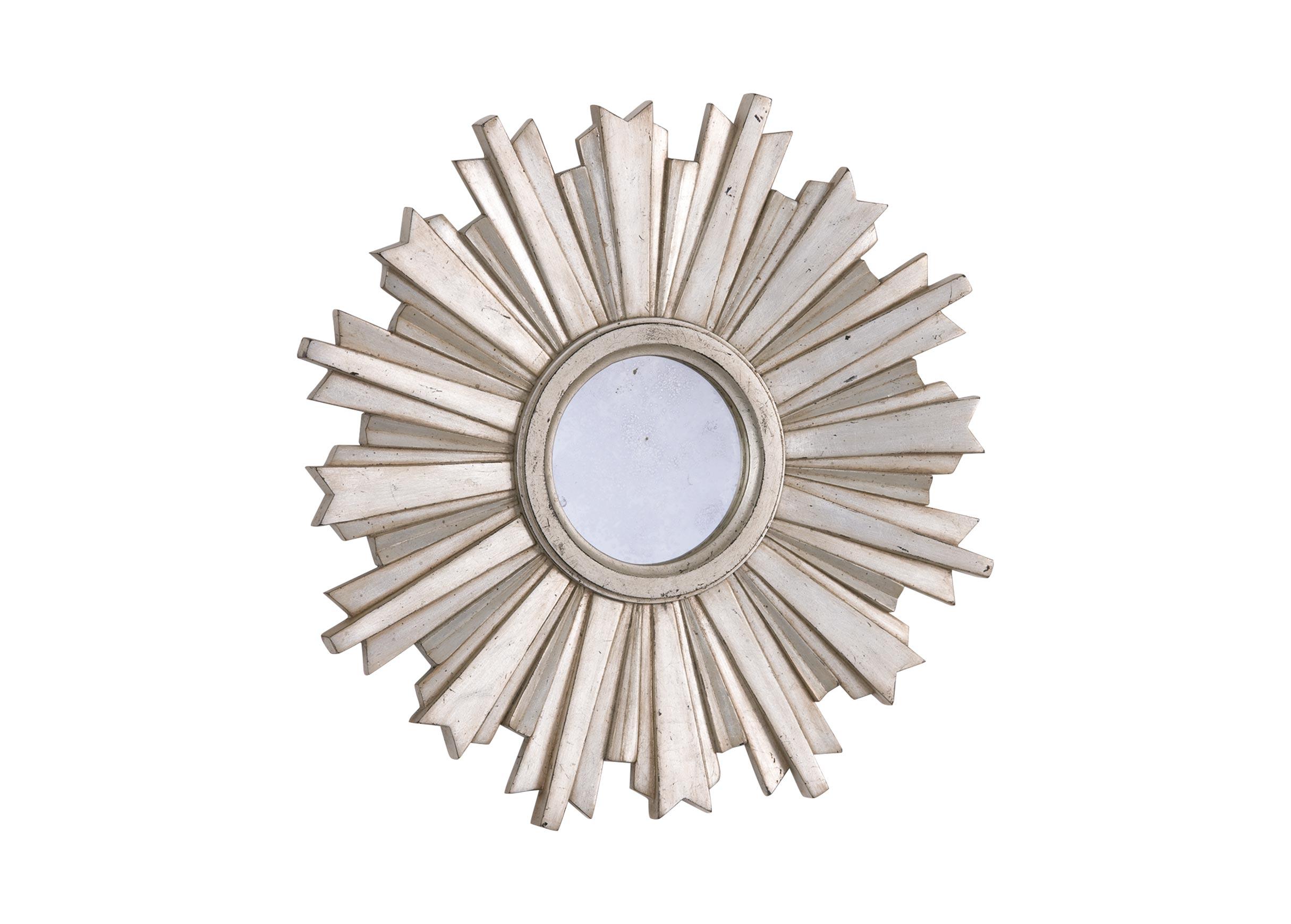 Mini Silver Starburst Mirror Mirrors