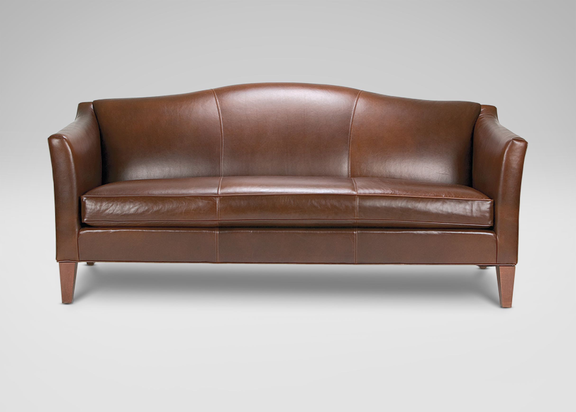 Hartwell Bench Cushion Leather Sofa Ethan Allen